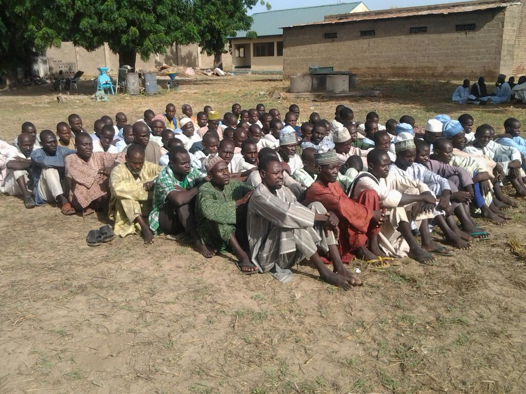 Filed Photo: A cross section of Boko Haram suspects | YNaija.com